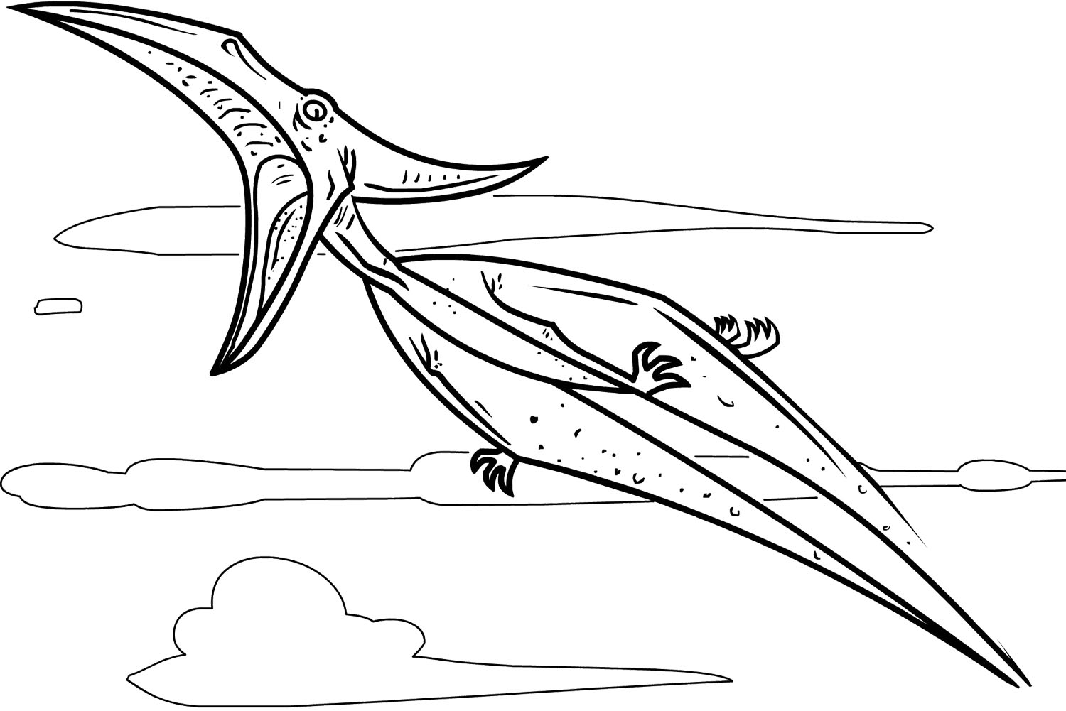 Pterodactyl Coloring Pages