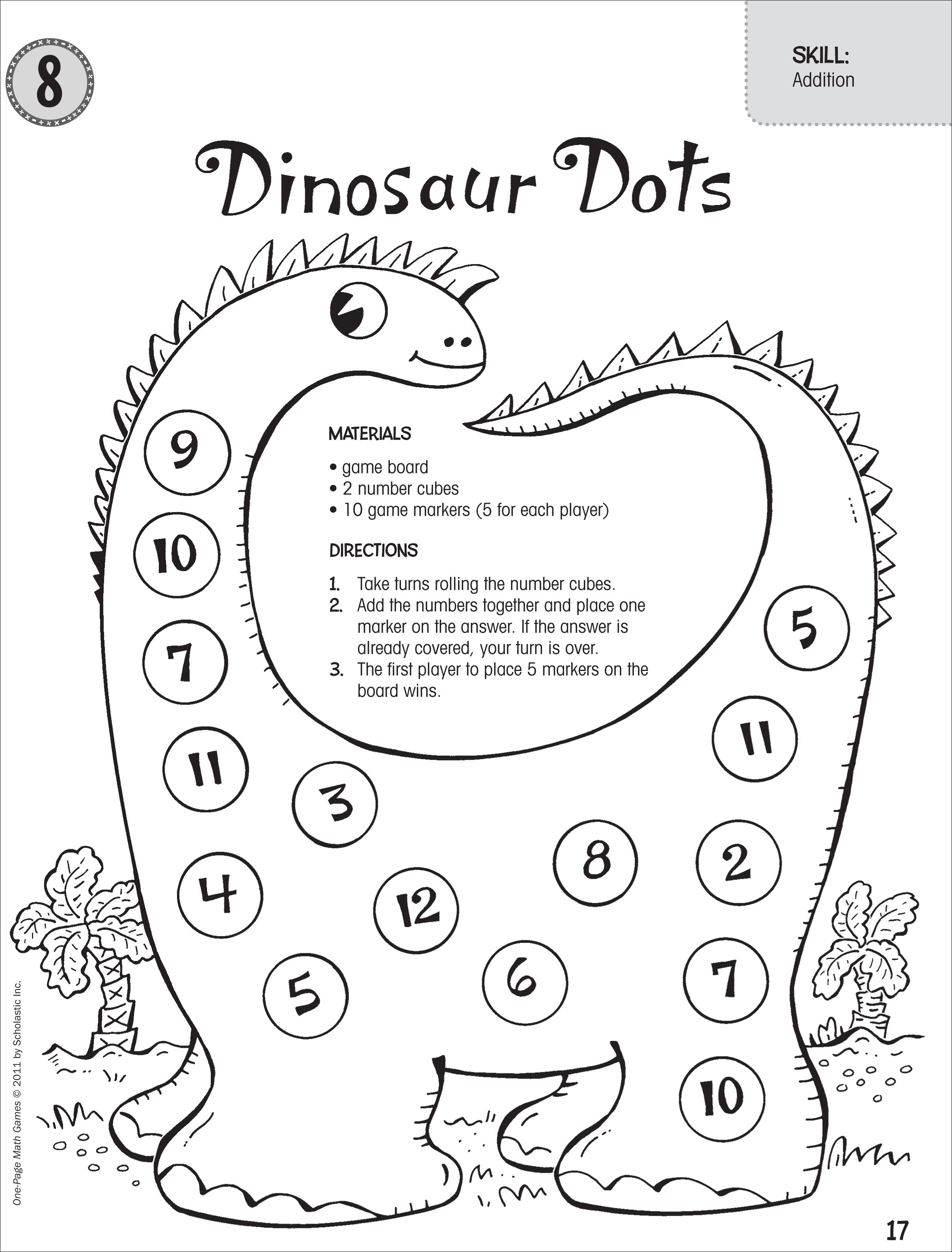 Dinosaur Math Games For Preschoolers Dinosaurs Pictures And Facts