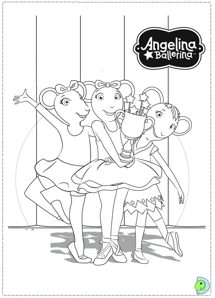 angelina ballerina coloring page dinokids org