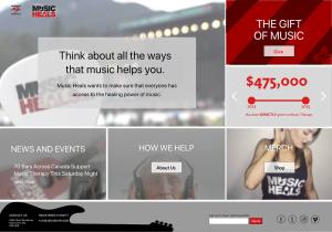 Music Heals Home Page