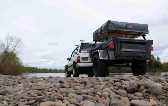 Jeep Trailer by Dinoot Trailers.  Lightweight Fiberglass Tub Kits