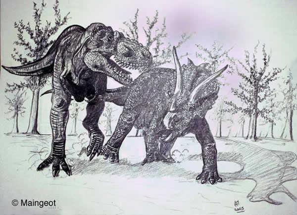 Triceratops contre Tyrannosaurus