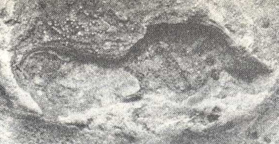 Empreinte et volcan
