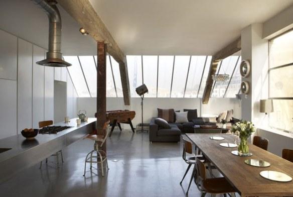 decoración loft industrial