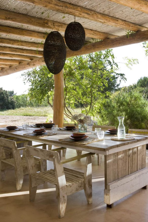 decorar terraza natural ibicenco mediterráneo
