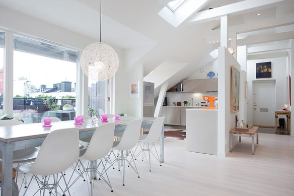 decoración salón apartamento moderno nórdico