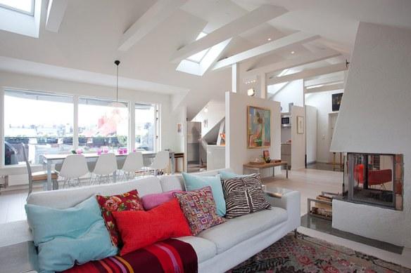 decoración apartamento nórdico moderno salón