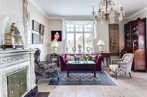 decorar salón clásico moderno con estilo