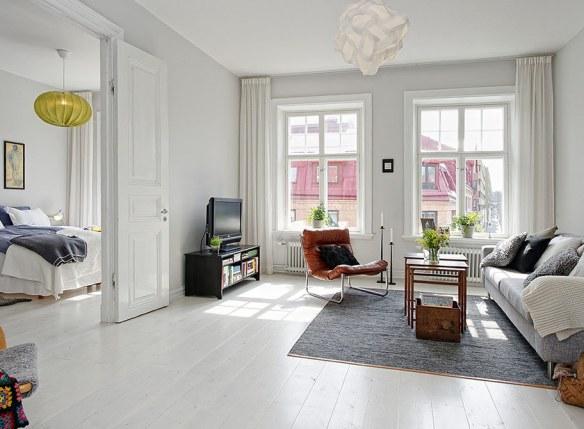 salón blanco estilo moderno