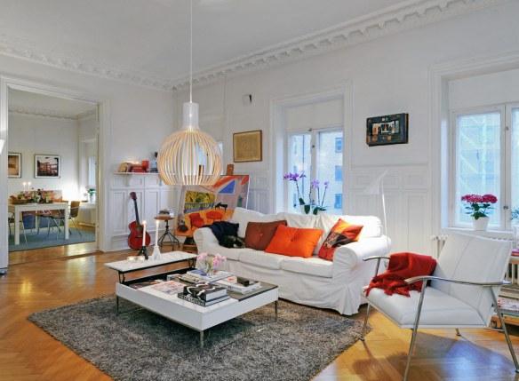 sofá blanco moderno