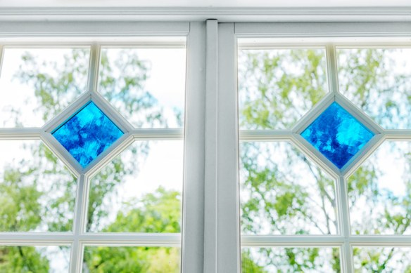 puertas ventanales con cristales vidriera