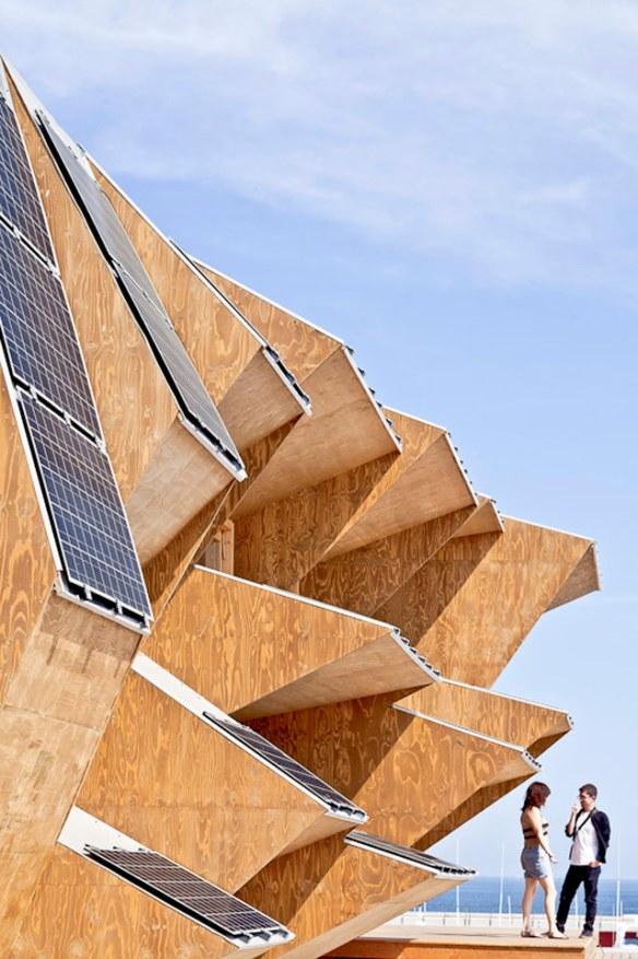 arquitectura inteligente con energía fotovoltáica