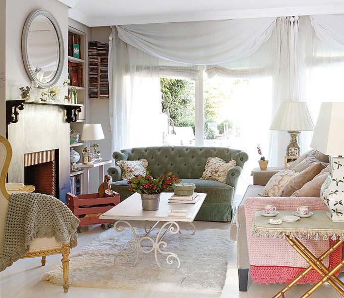 decoración estilo romántico
