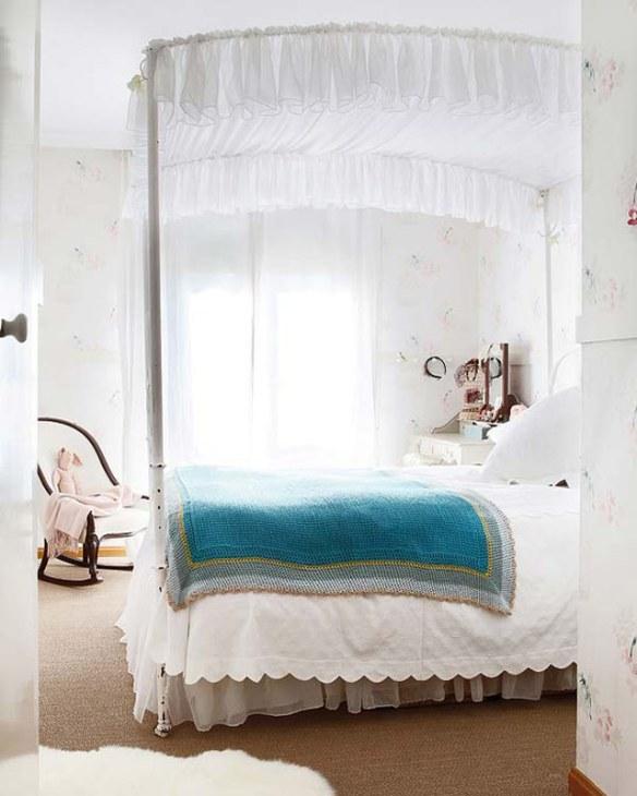 decoración glamour romántica
