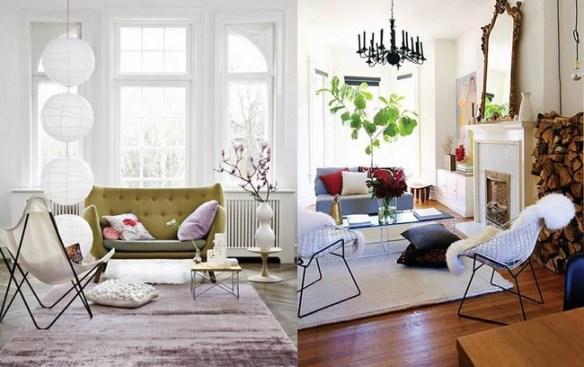 Salones nórdicos estilo cozy