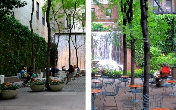Paley Park y Greenacre Park.
