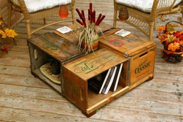 DIY Cajas de madera- mesa centro