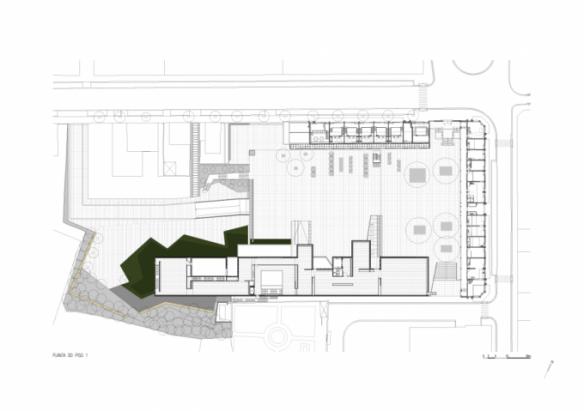 Planta primera Centro Internacional para las Artes José de Guimarães