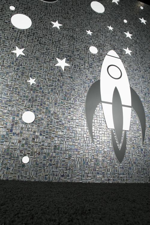mosaico ambiente cohete