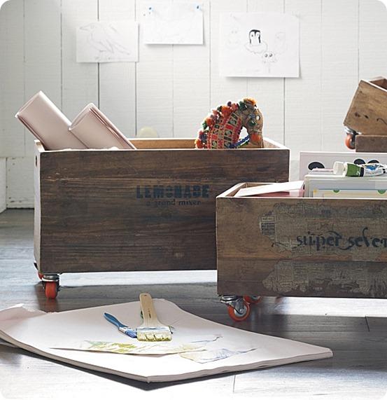 DIY Cajas de madera-recipiente
