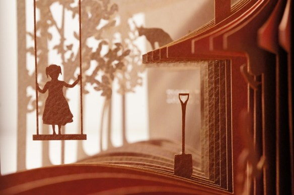 libro 3d, diorama circular, hogar dulce hogar, niña
