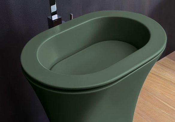 Cielo, lavabo verde