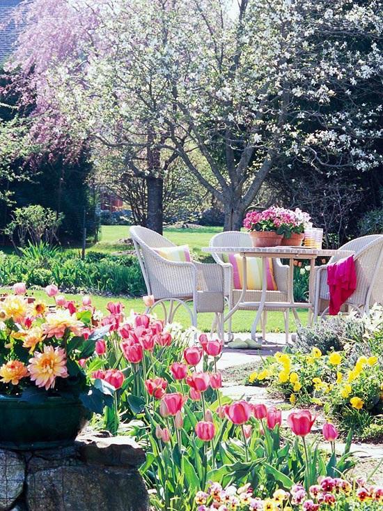 primavera mesa jardin