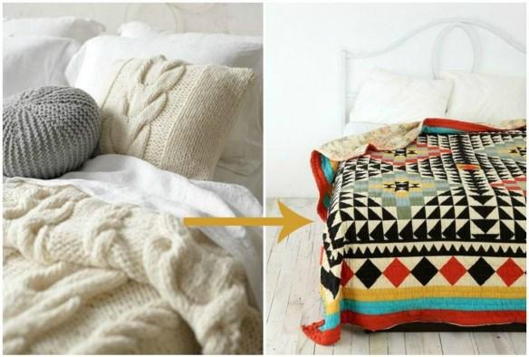 decoracion-primavera-cama-