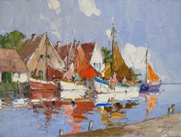 barcas en lago 1