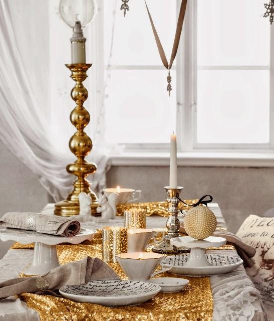 decorar la mesa en Nochevieja 9
