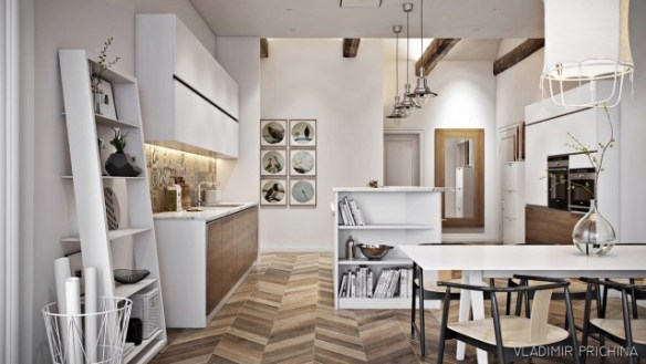 scandinavian-kitchen-oscillating-wooden-panelling-leaning-elements