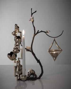 candelabro del artista David Wiseman