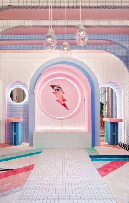 baño tendencia futurista