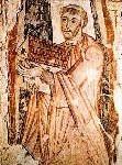 São Bento Biscop 628-690 Gravura do acervo dos beneditinos - Londres