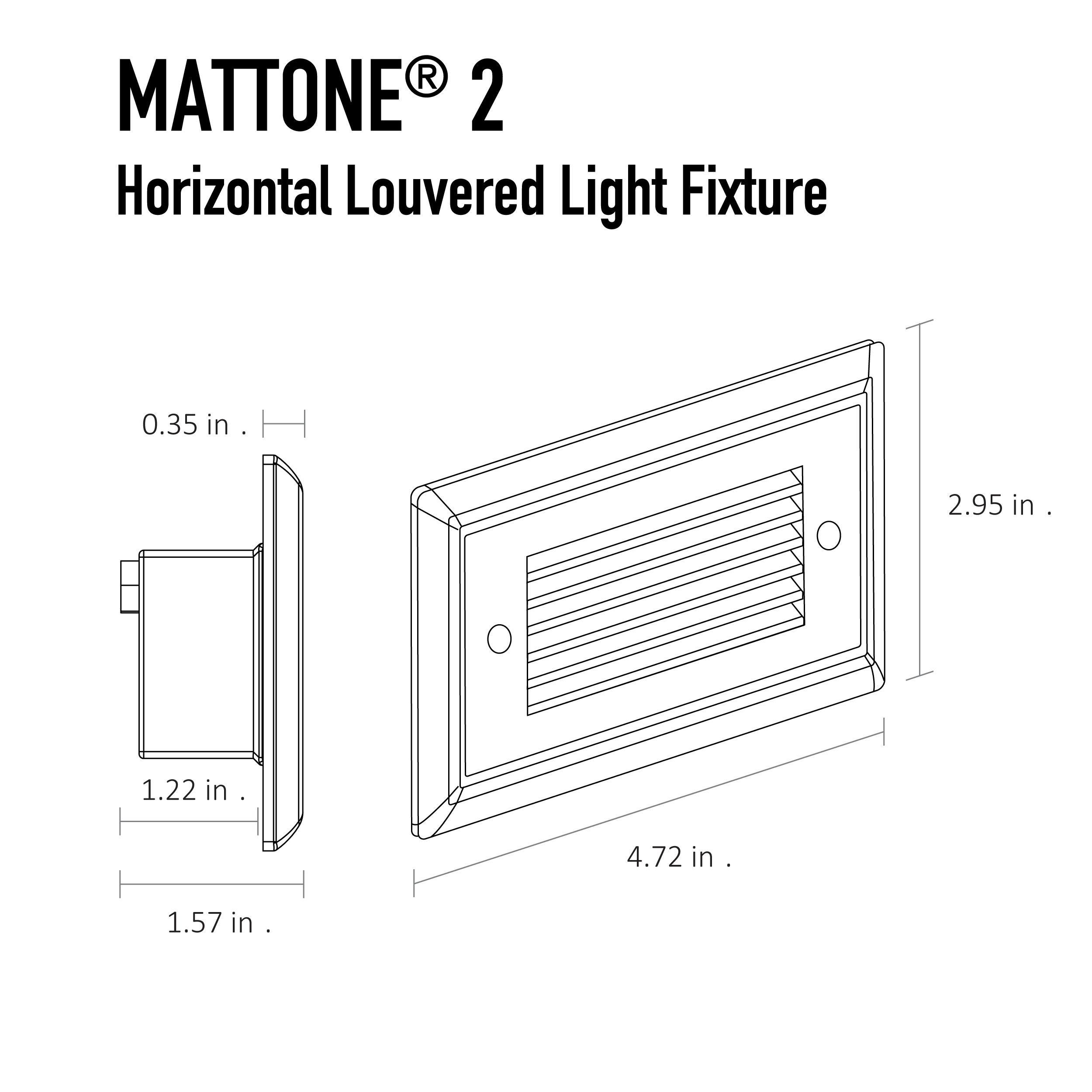 Mattone 2 Direct Wire Led Step Light
