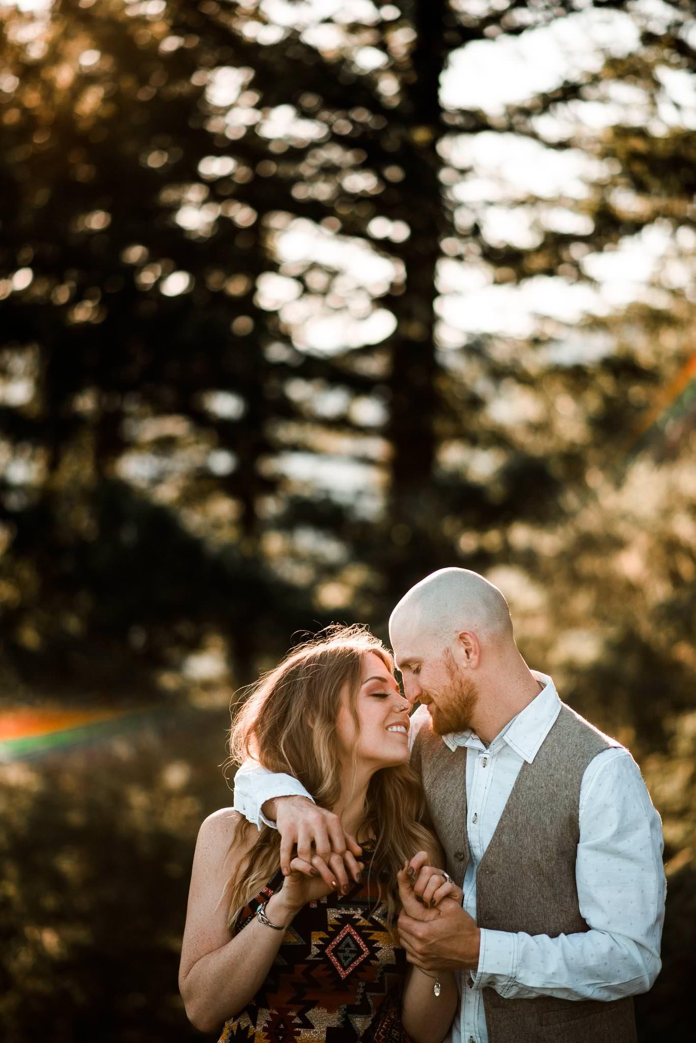Boho Engagement pics-Oregon Wedding Photographer