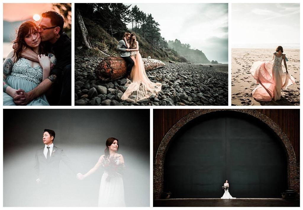 Best of 2018 images of wedding couples around Portland Oregon