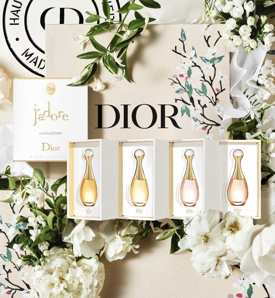 Dior - ジャドール ミニチュア コフレ (数量限定品) ジャドールの人気の4フレグランスのミニチュア セット