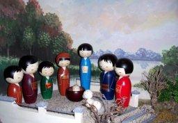 presepe in Giappone (Kokeshi dolls)