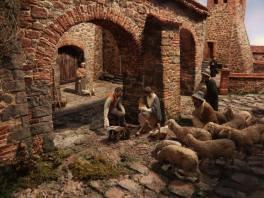 La Natività a Palazzo-Scene di Presepi Padova, Piazza dei Signori