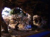 dipingere le rocce nel presepe effetto palestinese