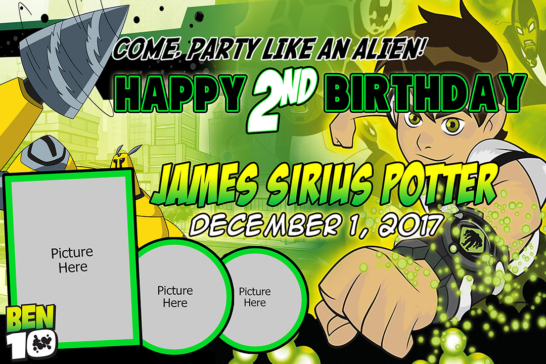 ben10 birthday tarp template