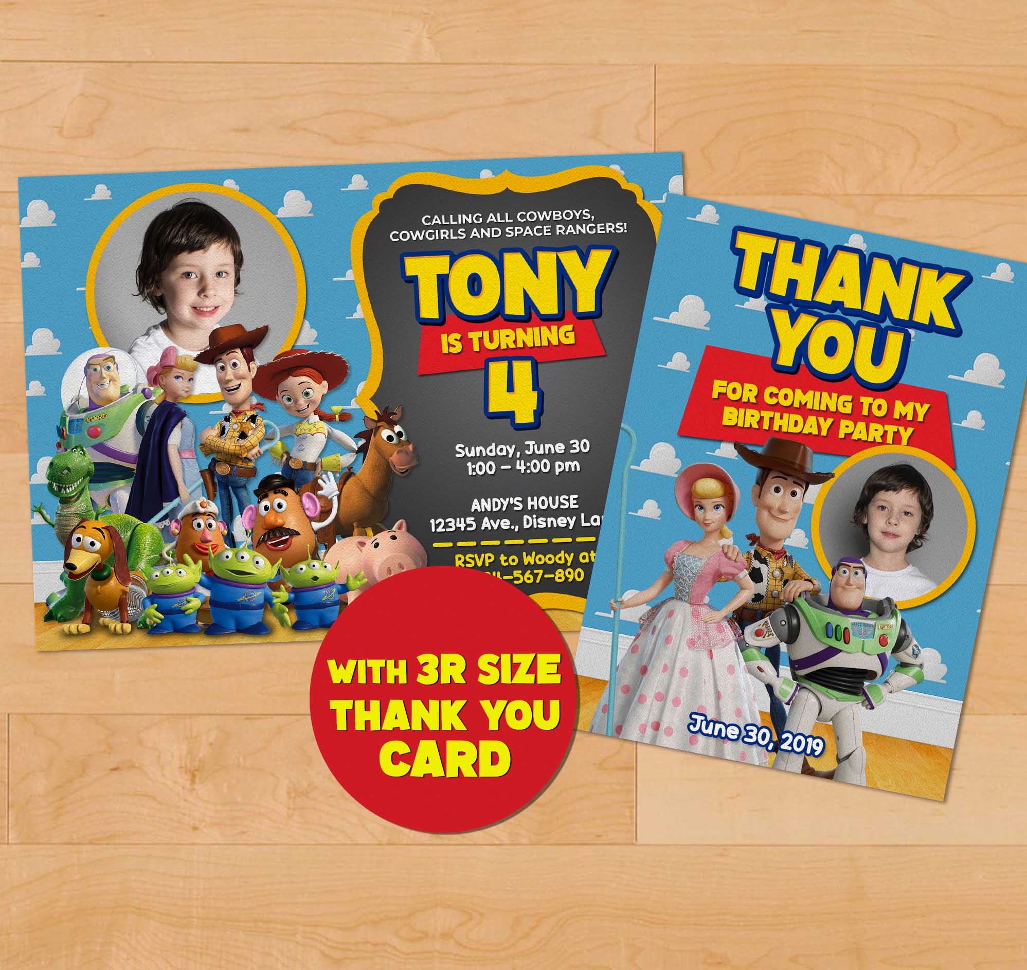 2019 toy story birthday invitation