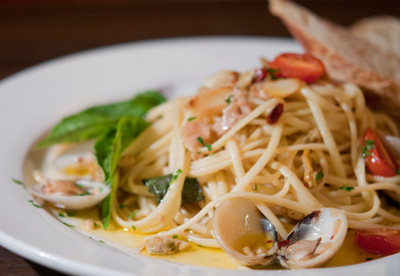 Linguini with Clam Sauce recipe from Dipasquales Italian Market in Baltimore