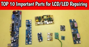 important parts for lcd led tv repairing