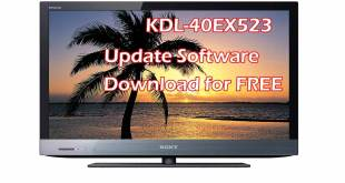 Sony KDL-40EX523 Update Software