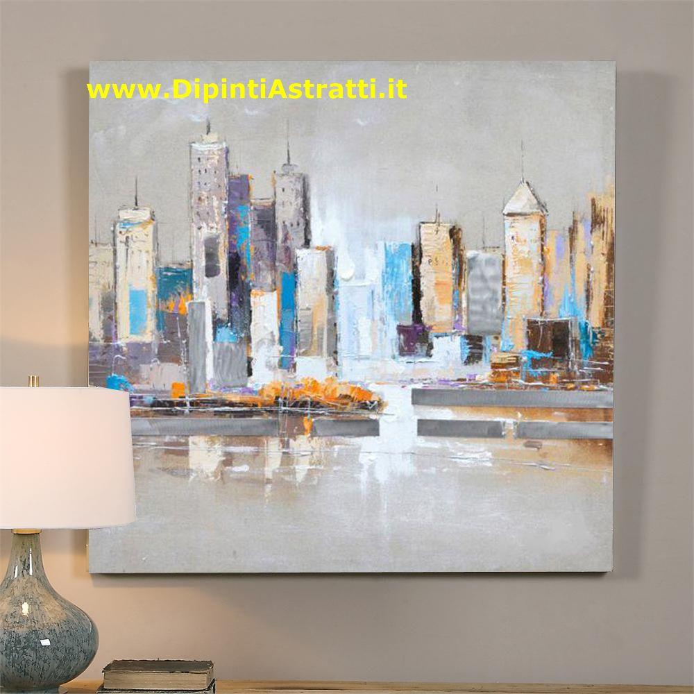 Quadri Moderni Su Tela : Quadri su tela grattacieli moderni america dipintiastratti