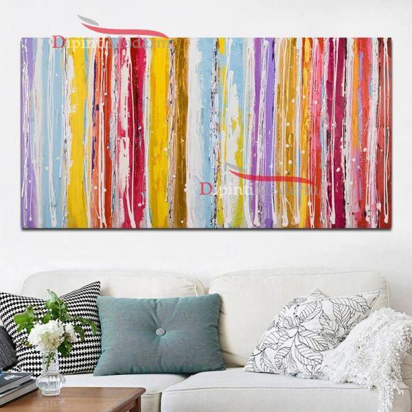 Quadri moderni colorati soggiorno