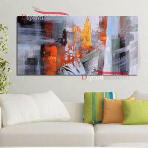 Quadro su tela astratto soggiorno colorato