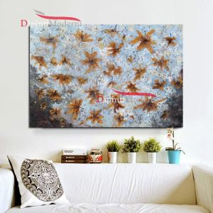 quadri astratti con foglie secche